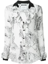 Moschino Fashion Show Print Blouse White
