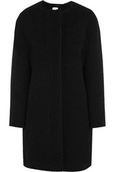 Iris And Ink Greta Wool Blend Boucle Coat Black