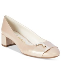 Anne Klein Hastobe Block Heel Dress Pumps Light Natural