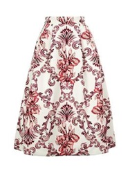 Deetz Orchid Full Skirt White Red