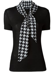 Salvatore Ferragamo Tie Neck Blouse Black