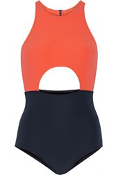 Flagpole Swim Vera Cutout Two Tone Swimsuit Blue