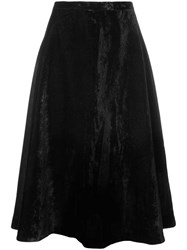 Le Ciel Bleu Velvet Flared Skirt Black