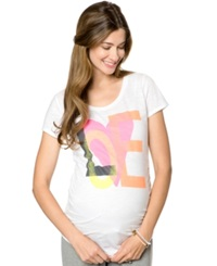 Motherhood Maternity Short Sleeve Scoop Neck Printed Tee
