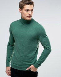 Esprit Roll Neck Cashmere Mix Jumper Dark Green