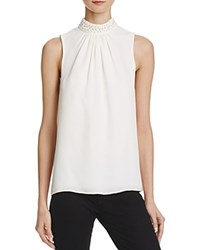 Parker Karmela Sleeveless Silk Top Ivory
