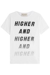 Etre Cecile Printed Cotton T Shirt White