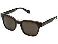 Paul Smith Denning Size 51 Deluxe Tortoise Stripe Brown Fashion Sunglasses