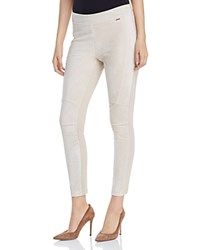 Calvin Klein Paneled Faux Suede Leggings Latte