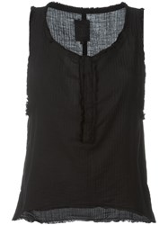 Thom Krom Frayed Edge Tank Top Black