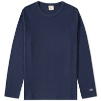 Champion Reverse Weave Long Sleeve Classic Tee Blue