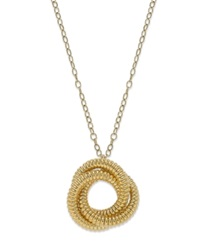 Signature Gold Knot Pendant Necklace In 14K Gold