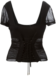 Dolce And Gabbana Corset Top Black