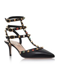 Valentino Rockstud Sling Back Pump Female Black