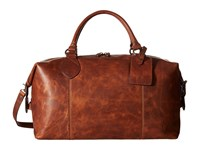 Frye Logan Overnight Cognac Antique Pull Up Satchel Handbags Brown