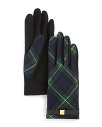 Lauren Ralph Lauren Tartan Tech Gloves Blackwatch Green