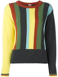 I'm Isola Marras Striped Jumper Yellow And Orange