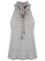 Andrea Bogosian High Neck Top Grey