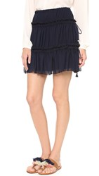 See By Chloe Ruffle Skirt Dark Navy