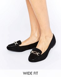 New Look Wide Fit Loafer Black