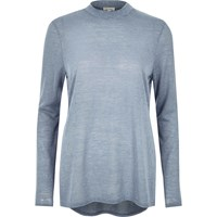 River Island Womens Blue Turtle Neck Top