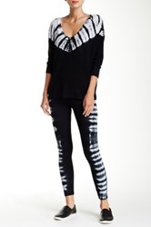 Splendid Thermal Tie Dye Legging Black