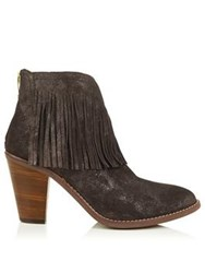 Kanna Siena Fringed Ankle Boots Brown