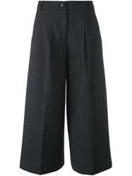 Twin Set Flared Cropped Trousers Grey