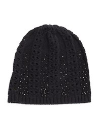 Lauren Ralph Lauren Embellished Knit Hat Black