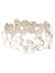 Natasha Collis Small Cobbled Ring Metallic