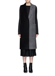 Mo And Co. Edition 10 Patchwork Wool Blend Sleeveless Coat Multi Colour