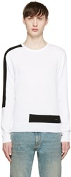 Dsquared White And Black Techno Sweater