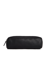 Asos Leather Pencil Case Black