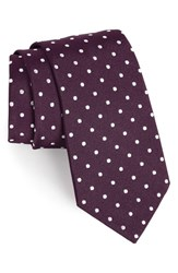 Gitman Brothers Vintage Men's Polka Dot Silk Tie Dark Purple