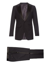 Lanvin Smoking Wool And Mohair Blend Tuxedo Navy