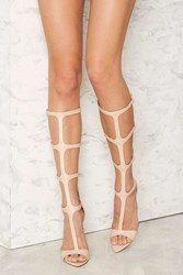 Nasty Gal Stiletto To Toe Gladiator Heels Beige