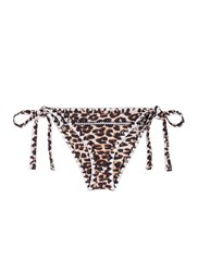 Same Swim 'The Tease' Cheetah Print Side Tie Bikini Bottoms Animal Print