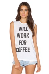 The Laundry Room Coffee Bum Muscle Tee White