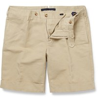 Incotex Slim Fit Linen And Cotton Blend Shorts One
