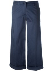 P.A.R.O.S.H. Cropped Trousers Blue