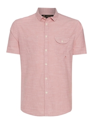 Label Lab Rancho Fine Stripe Short Sleeve Shirt Pink