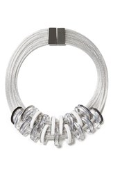 Women's Lafayette 148 New York Mesh Collar Necklace With Resin Links