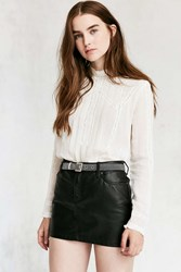 Urban Outfitters Metal Link Belt Silver