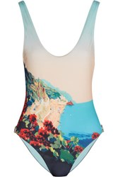 Orlebar Brown Almada Printed Swimsuit Sky Blue