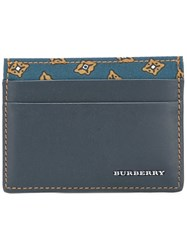 Burberry 'Sandon' Card Holder Blue
