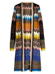 Missoni Zigzag Knit Open Front Cardigan Multi