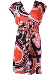Emilio Pucci Abstract Print Belted Dress Multicolour
