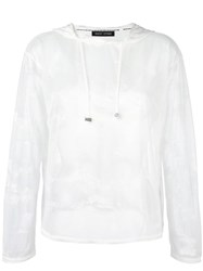 Each X Other Sheer Hoodie White