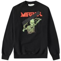 Off White Skull Mirror Crew Sweat Black