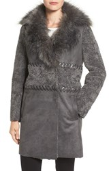 Elie Tahari Women's Veronica Faux Fur Trim Jacket